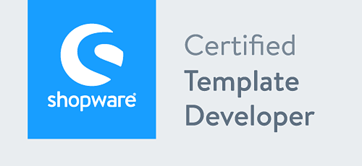 Shopware - Certified Template Developer