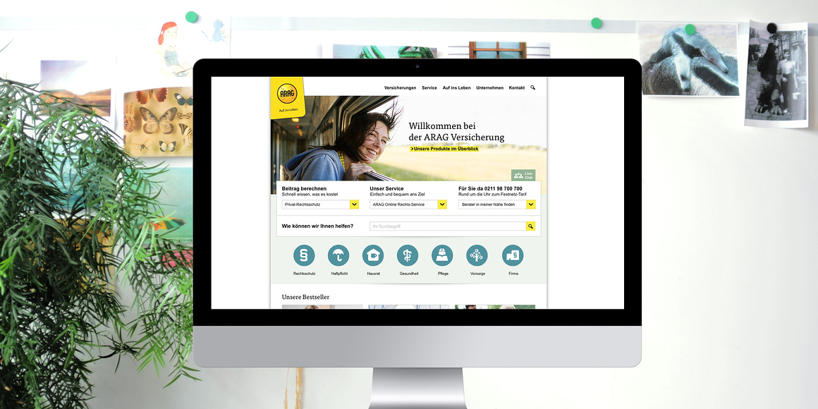 Website Relaunch ARAG 2014